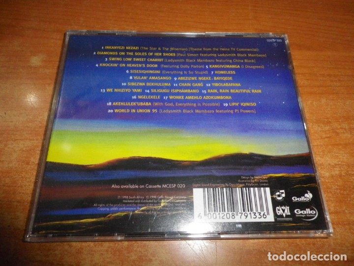 CDs de Música: THE BEST OF LADYSMITH BLACK MAMBAZO The star and the wiseman CD ALBUM 1998 SUDAFRICA PAUL SIMON RARO - Foto 2 - 180602182