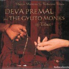 CDs de Música: DEVA PREMAL AND THE GYUTI MONKS OF TIBET - TIBETAN MANTRAS FOR TURBULENT TIMES / CD DIGIPACK RF-3198. Lote 180837506