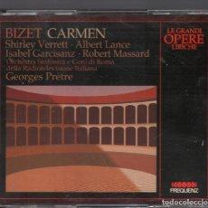 CDs de Música: LE GRANDI OPERE LIRICHE / BIZET CARMEN / SHIRLEY VERRETT ...DOBLE CD DE 1989 RF-3202. Lote 180838808