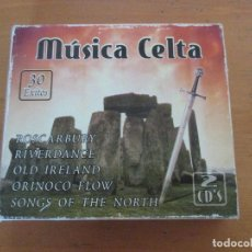 CDs de Música: MÚSICA CELTA 2 CDS MEDITERRANEO MUSIC LATINO. Lote 180895892