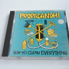 CDs de Música: PROPAGANDHI ‎ HOW TO CLEAN EVERYTHING CD. Lote 180913112