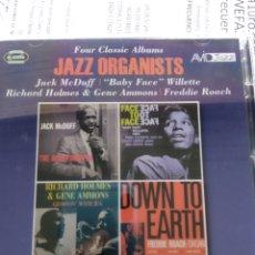 CDs de Música: FOUR CLASSIC ALBUM - JAZZ ORGANISTS (DOBLE CD). Lote 180922481