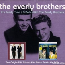 CDs de Música: THE EVERLY BROTHERS - IT'S EVERLY TIME / A DATE WITH THE EVERLY BROTHERSL - 2XCD . Lote 181072626