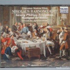 CDs de Música: CD. MUSIQUE DE TABLE. HARNONCOURT. TELEMANN. Lote 181082002