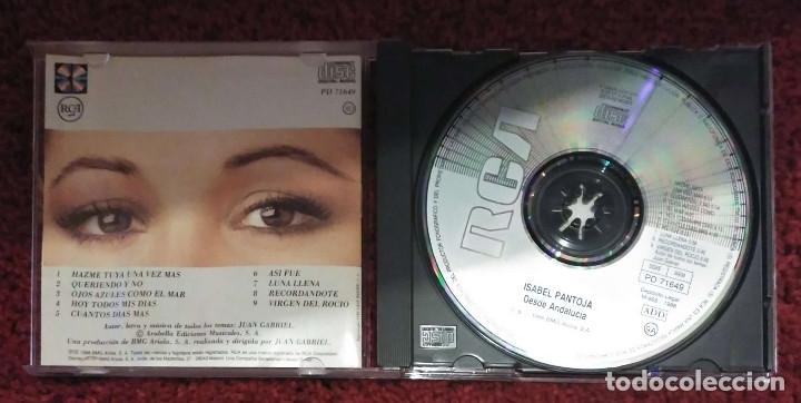 CDs de Música: ISABEL PANTOJA (DESDE ANDALUCIA) CD 1988 1ª Edición - Foto 3 - 181184271