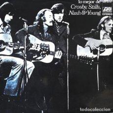 CDs de Música: CROSBY, STILLS, NASH & YOUNG – LO MEJOR DE(ATLANTIC/HISPAVOX, HATS 421-75 LP, 1971). Lote 181213088