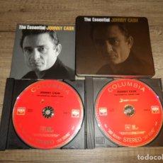 CDs de Música: JOHNNY CASH - THE ESSENTIAL JOHNNY CASH (STEELBOOK). Lote 181316163