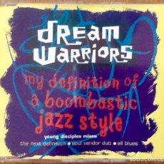 CDs de Música: DREAM WARRIORS : MY DEFINITION OF A BOOMBASTIC JAZZ STYLE [DEU 1991] MX-CD. Lote 181373563