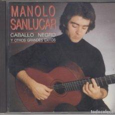 CDs de Música: MANOLO SANLÚCAR CD CABALLO NEGRO Y OTROS GRANDES ÉXITOS 1991. Lote 181414173