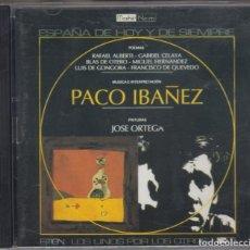 CDs de Música: PACO IBÁÑEZ - 2 - CD - POEMAS RAFAEL ALBERTI GABRIEL CELAYA BLAS DE OTERO MIGUEL HERNANDEZ 1996 PDI. Lote 181457442