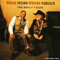 CDs de Música: WILLIE NELSON & WYNTON MARSALIS - TWO MEN WITH THE BLUES - CD ALBUM - 10 TRACKS - BLUE NOTE 2008. Lote 181602668