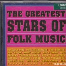 CDs de Música: THE GREATEST STARS OF FOLK MUSIC - CD RECOPILATORIO. Lote 181611543