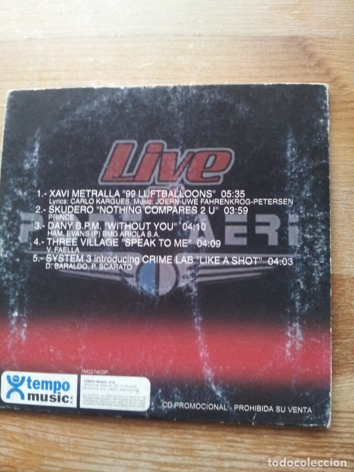 CDs de Música: LIVE AT PONT AERI ( cd single ) - Foto 2 - 35558200