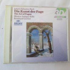 CDs de Música: J.S. BACH , DIE KUNST DER FUGE - THE ART OF FUGUE - REINHARD GOEBEL . Lote 181705336
