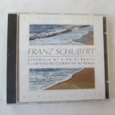CDs de Música: FRANZ SCHUBERT , SINFONIA Nº 5 EN SI BEMOL - MI BEMOL 2000 . Lote 181706725
