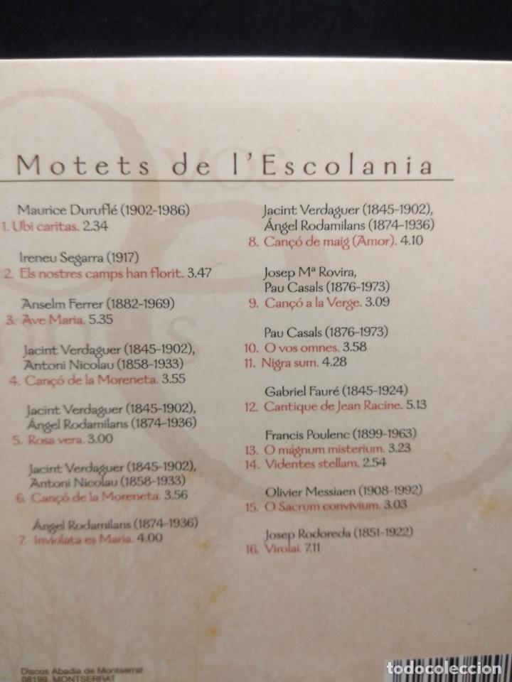 CDs de Música: CD CAPELLA DE MUSICA I ESCOLANIA DE MONTSERRAT : O VOS OMNES - Foto 2 - 181742042