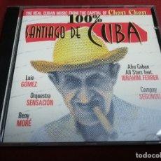CDs de Música: 100% SANTIAGO DE CUBA. THE REAL CUBAN MUSIC FROM THE CAPITAL OF CHAN CHAN (CD). Lote 181786823