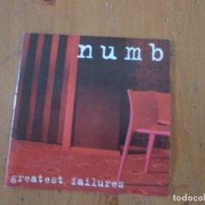 CDs de Música: NUMB GREATEST FAILURES DEMO MAQUETA 6 CANCIONES INDIE. Lote 181959552