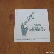 CDs de Música: FUN-ÀTIC SOON CARROTS ROMODANCE SAMPLER 2000 AJUNTAMENT SAN VICENÇ DEL HORTS CON CARTA Y CARTEL. Lote 181963396