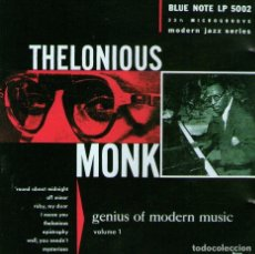 CDs de Música: THELONIOUS MONK - GENIUS OF MODERN MUSIC - VOLUME 1 - BLUE NOTE / CAPITOL RECORDS 2001. Lote 181983000