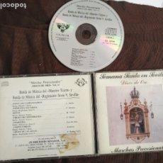 CDs de Música: CD SEMANA SANTA EN SEVILLA DISCO DE ORO MARCHAS PROCESIONALES . Lote 182006208