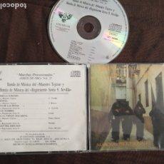 CDs de Música: CD SEMANA SANTA SEVILLA MARCHAS PROCESIONALES DISCO ORO VOL2 BANDA MAESTRO TEJERA REGIMIENTO SORIA 9. Lote 182006255