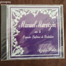 CDs de Música: CD PRECINTADO MANUEL MARVIZÓN CON LA ORQUESTA SINFÓNICA DE BRATISLAVA AZUL Y PLATA SEMANA SANTA. Lote 182006288