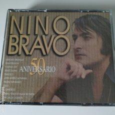 CDs de Música: NINO BRAVO - 50 ANIVERSARIO - DOBLE CD - VERSIONES ORIGINALPES REMASTERIZADO - POLYGRAM - 1995 - EX+. Lote 182009736