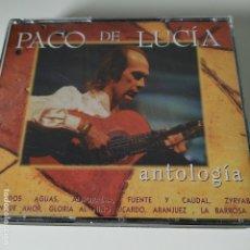 CDs de Música: PACO DE LUCÍA - ANTOLOGÍA - 2 CDS - RECOPILATORIO. Lote 182009988