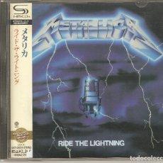 CDs de Música: METALLICA - RIDE THE LIGHTNING. CD SHMCD JAPON. CON OBI. COMO NUEVO.. Lote 182011730