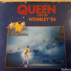 CDs de Música: QUEEN LIVE AT WEMBLEY 86 DOBLE CD. Lote 182056190