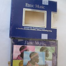 CDs de Música: ETNIC MUSIC - AROUND THE WOLRLD IN 40 SONGS - 2 CD COLLECTION . Lote 182130741