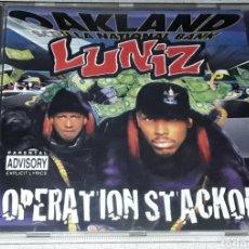 CDs de Música: CD - LUNIZ - OPERATION STACKOLA - MADE IN HOLLAND - LUNIZ - GANGSTA. Lote 182144786