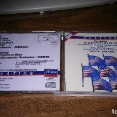 CDs de Música: GERSHWIN. RHPASODY IN BLUE - COPLAND. APPALACHIAN SPRING, FANTARE FOR.. (METHA * MAAZEL). Lote 182145133