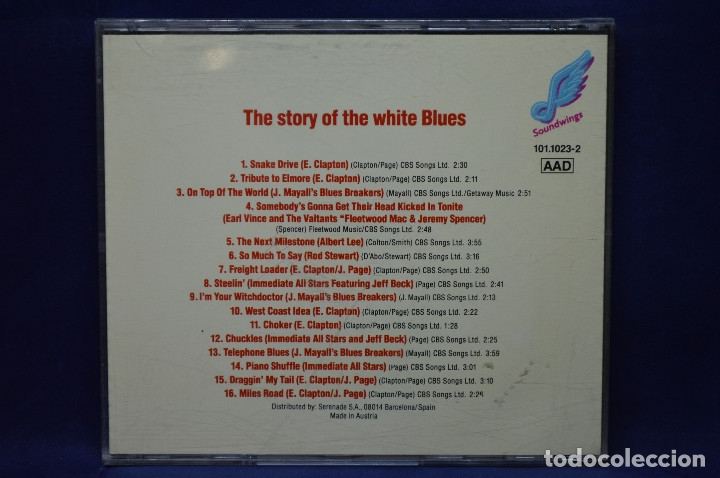 CDs de Música: VARIOUS - THE STORY OF THE WHITE BLUES - CD - Foto 2 - 182152946