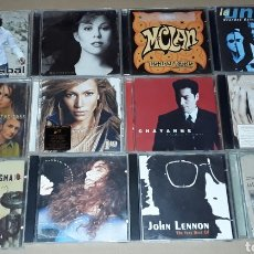 CDs de Música: LOTE 55 CD - MADONNA, PAUSINI,JUANES,JENNIFER LOPEZ,PAULINA RUBIO,MANÁ, BISBAL,M CLAN,ETERNAL.... Lote 182243405