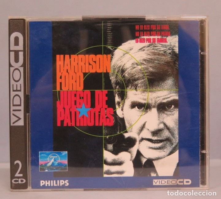 2 VIDEO CD. HARRISON FORD. JUEGO DE PATRIOTAS (Música - CD's Bandas Sonoras)