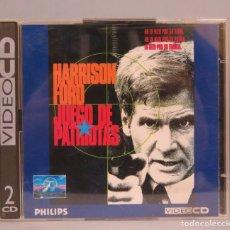 CDs de Música: 2 VIDEO CD. HARRISON FORD. JUEGO DE PATRIOTAS. Lote 182278088