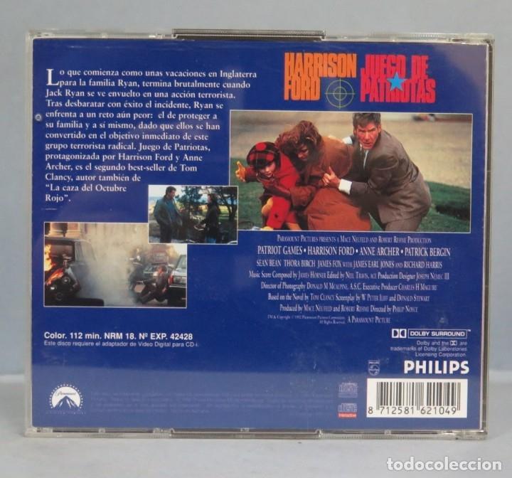 CDs de Música: 2 VIDEO CD. HARRISON FORD. JUEGO DE PATRIOTAS - Foto 2 - 182278088