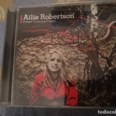 CDs de Música: AILIE ROBERTSON - FIRST THING FIRST . Lote 182398158
