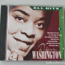 CDs de Música: DINAH WASHINGTON. ALL HITS. VOLUME 1. Lote 182409363