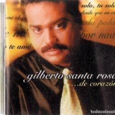 CDs de Música: GILBERTO SANTA ROSA .... DE CORAZÓN. Lote 206889396