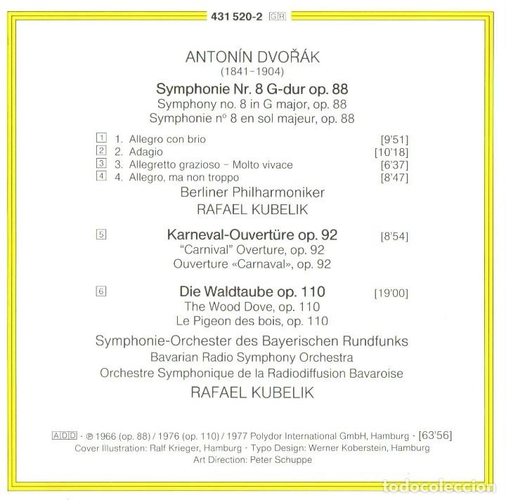CDs de Música: DVORAK. Sinfonia nº8. Rafael Kubelik - Foto 2 - 182484501