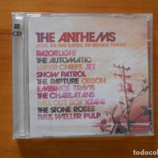 CDs de Música: CD THE ANTHEMS (2 CD'S) - RAZORLIGHT, THE AUTOMATIC, KAISER CHIEFS, JET, SNOW PATROL... (6J). Lote 182491352
