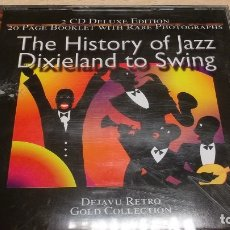 CDs de Música: THE HISTORY OF JAZZ DIXIELAND TO SWING -2CD-DEJAVU RETRO GOLD COLLECTION. Lote 182278550