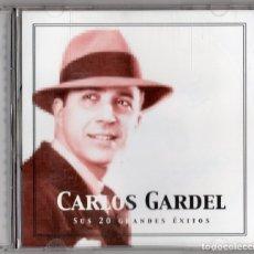 CDs de Música: CARLOS GARDEL. SUS 20 GRANDES ÉXITOS. CD. Lote 182603138