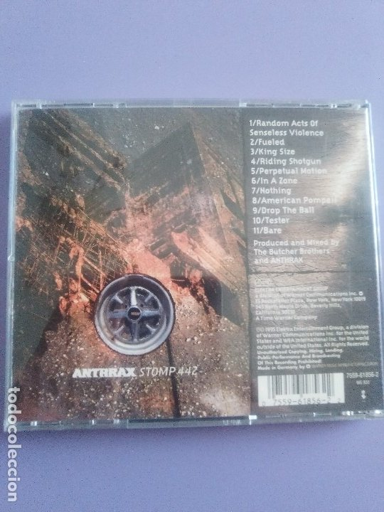 CDs de Música: LOTE 5 CDS. PARKING FOX(DESTRUCCION+I.V.A)STRATOVARIUS(LIVE)ANTHRAX/WITHOUT WARNING/THE GRIFTERS. - Foto 10 - 182634008