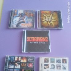 CDs de Música: LOTE 5 CDS. SCORPIONS(CLASSIC BITES)BON JOVI(LIVE Y CRUSH)LIMP BIZKIT/IMPIOUS(THE KILLER). Lote 182639565
