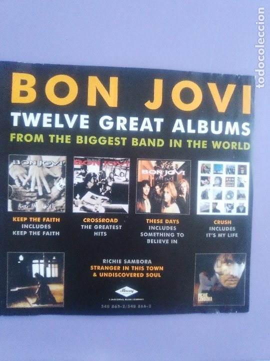 CDs de Música: LOTE 5 CDS. SCORPIONS(CLASSIC BITES)BON JOVI(LIVE Y CRUSH)LIMP BIZKIT/IMPIOUS(THE KILLER) - Foto 13 - 182639565