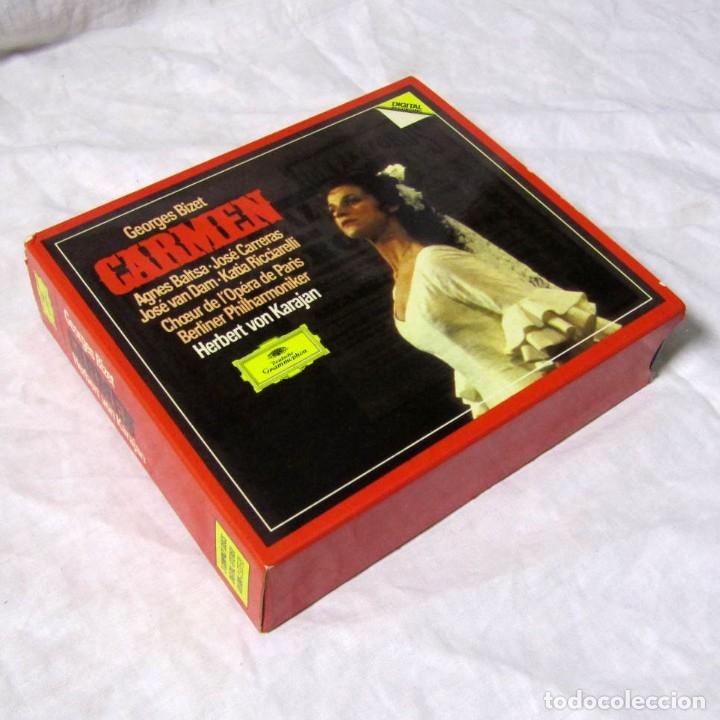 CAJA CON 3 CDS + LIBRO CARMEN, GEORGES BIZET. DEUTSCHE GRAMMOPHON (Música - CD's Clásica, Ópera, Zarzuela y Marchas)